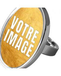 Bague photo ovale ajustable
