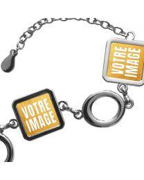 Bracelet photo 3 carrés