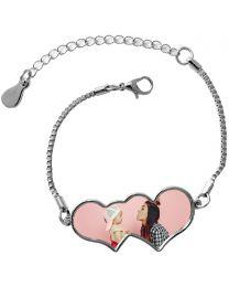 Bracelet double coeur - off
