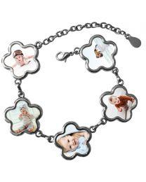 Bracelet photo 5 fleurs - off