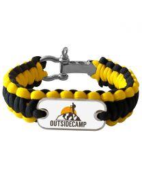 Bracelet photo en paracorde jaune et noir - off