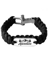 Bracelet photo en paracorde noir - off