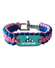 Bracelet photo en paracorde rose et bleu - off