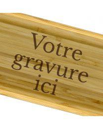 Plateau personnalisé bois gravé