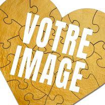 Puzzle photo coeur 23 pièces