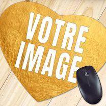 Tapis de souris photo coeur 23,5 x 19,5 cm