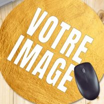 Tapis de souris photo rond 20 cm 5 mm