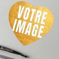 Magnet photo coeur en céramique 68 mm