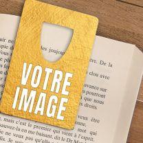 Marque-pages personnalisé photo argenté