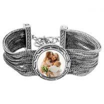 Bracelet photo en métal avec 3 cercles - off
