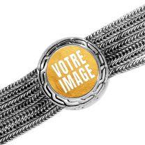 Bracelet photo métallique avec un cercle