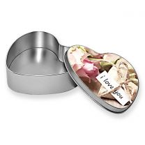 Boîte en métal photo coeur - OFF