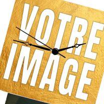 Horloge de bureau photo 10 x 10 cm