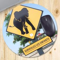Tapis de souris photo rond 20 cm 5 mm - OFF