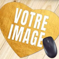 Tapis de souris photo coeur 23,5 x 20 cm