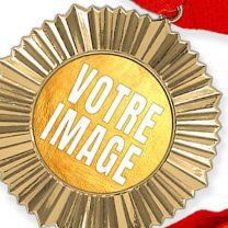 Médaille personnalisée photo Or