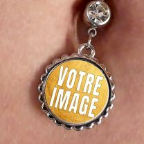 Piercing nombril photo forme ronde