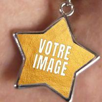 Piercing nombril photo forme étoile