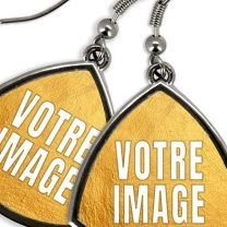 Boucles d'oreilles photo triangles arrondis