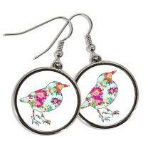 Boucles d'oreilles photo pendantes rondes - OFF