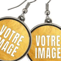 Boucles d'oreilles photo pendantes rondes