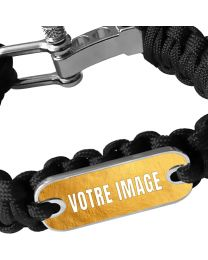 Bracelet photo en paracorde noir
