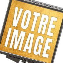 Miroir de poche carré avec photo