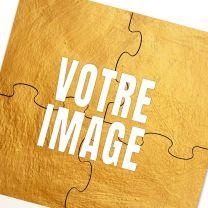 Sous-verre puzzle photo 19 x 19 cm 4 pièces