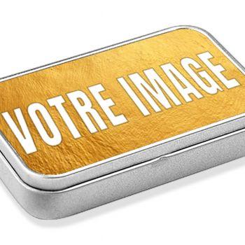 Boîte métal personnalisé photo