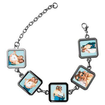 Bracelet photo 5 carrés