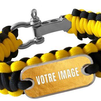 Bracelet photo en paracorde jaune et noir