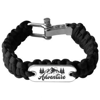 Bracelet photo en paracorde noir