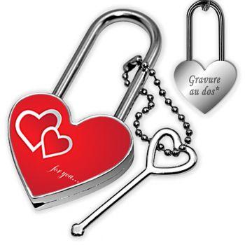 Cadenas photo cœur personnalisé