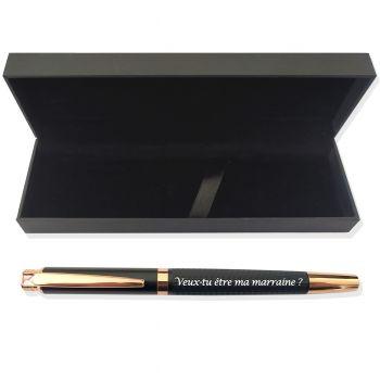 Coffret stylo chic gravé