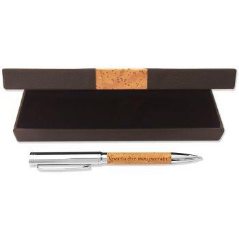 Coffret stylo gravé écologique