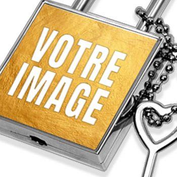 Cadenas personnalisé photo carré