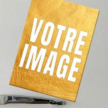 Magnet photo rectangulaire en céramique 5 x 7 cm