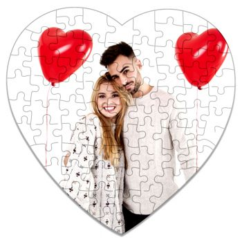 Magnet puzzle photo cœur personnalisé