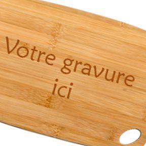 Plateau à fromage gravé 20x30 cm