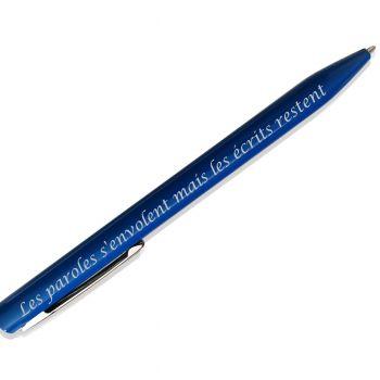 Stylo personnalisé bleu