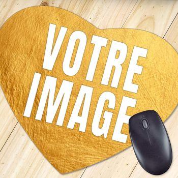 Tapis de souris photo coeur 5mm