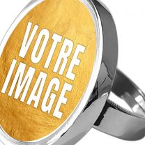 Bague photo ronde ajustable