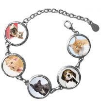 Bracelet 5 photo rond - OFF