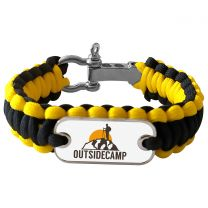 Bracelet photo en paracorde jaune et noir - off