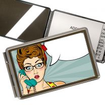 Miroir rectangulaire photo avec bloc note - OFF