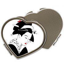 Miroir de poche coeur avec photo - OFF