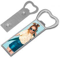 Magnet photo ouvre-bouteille métallique
