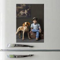 Magnet photo rectangulaire en céramique 5 x 7 cm - OFF