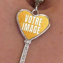 Piercing nombril photo forme coeur