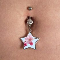 Piercing nombril photo forme étoile - OFF